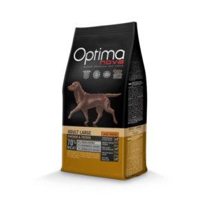 Optimanova Adult Large Breed Chicken & Potato - karma bezglutenowa dla dorosłych psów dużych ras