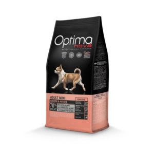 Optimanova Adult Mini Sensitive Salmon & Potato - karma bezglutenowa dla wrażliwych dorosłych psów małych ras