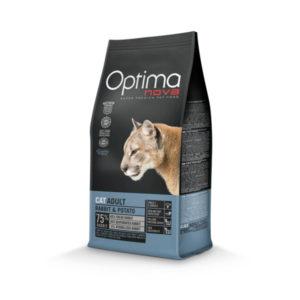Optimanova Cat Adult Rabbit & Potato - karma bezglutenowa dla kotów dorosłych z królikiem